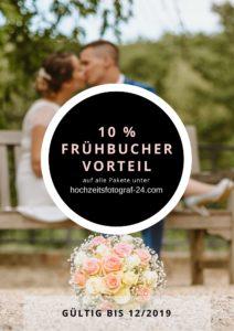 10% Frühbuchervorteil auf Hochzeitsreportagen